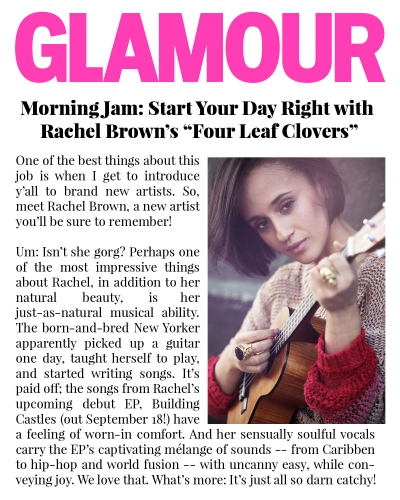 """Four Leaf Clovers"" featured in Glamour"