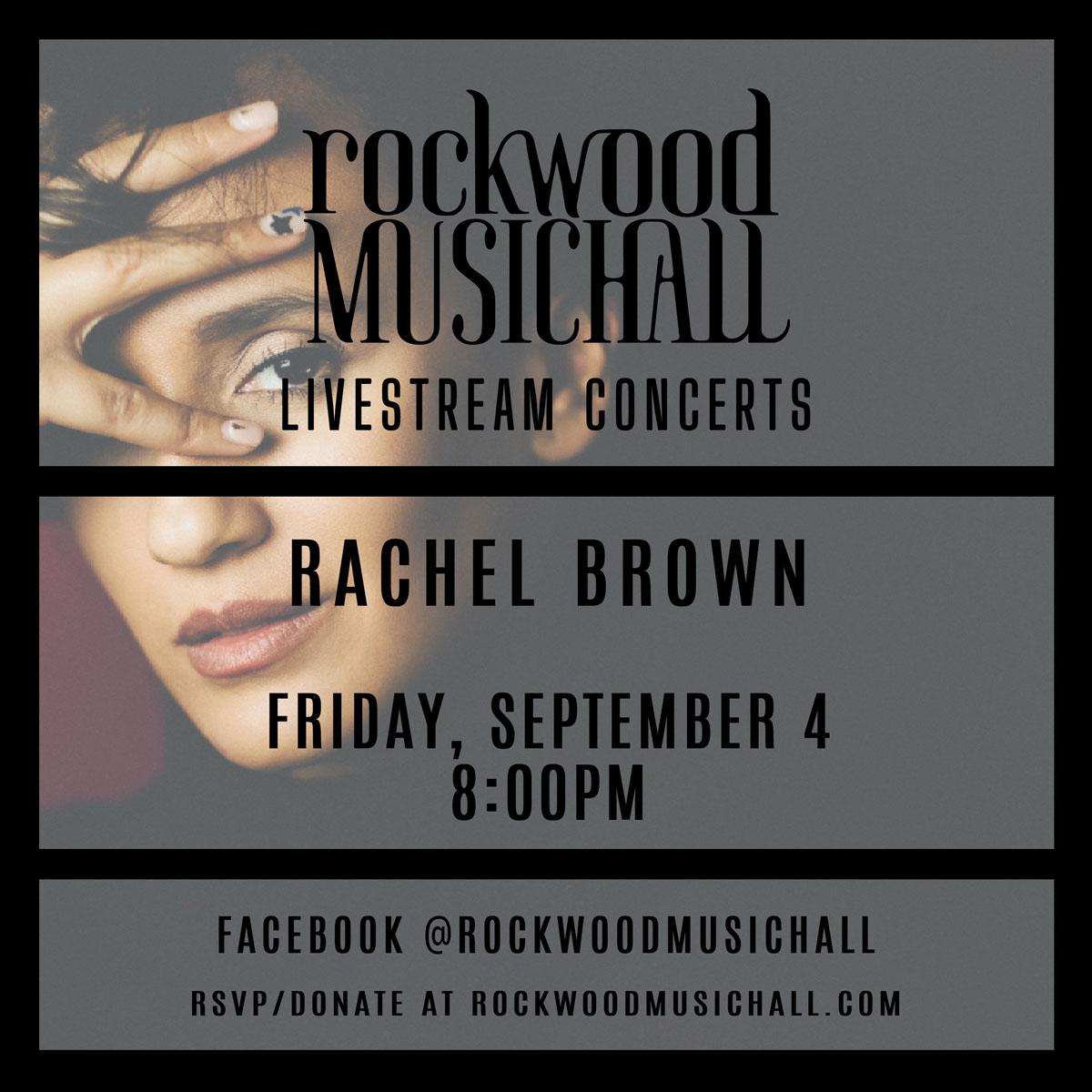 Rachel Brown Rockwood Music Hall Livestream